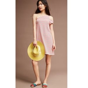 Anthropologie Marketa One Shoulder Striped Dress